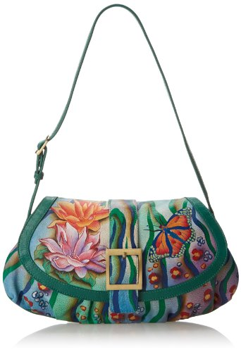 Anuschka Small Ruched Flap Handbag FJT