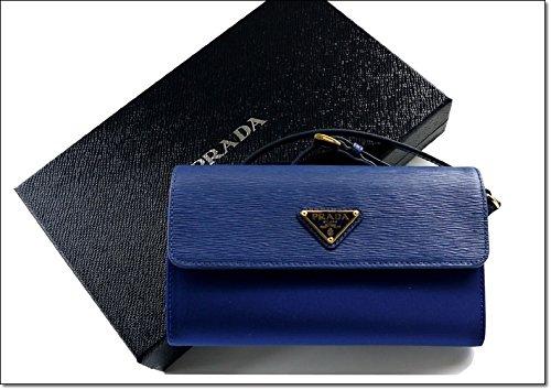 Prada Tessuto Nylon & Soft Calf Leather Crossbody Shoulder Bag 1M1437, Blue
