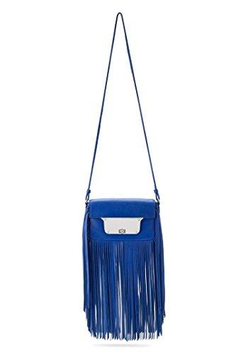 Milly 'Isabella' Fringe Crossbody Bag, blue
