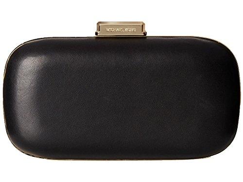 Michael Kors Elsie Leather Dome Clutch Bag, Black