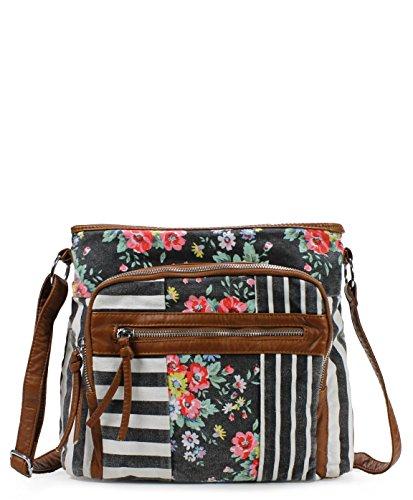 Scarleton Soft Washed Floral Pattern Crossbody Bag H1794