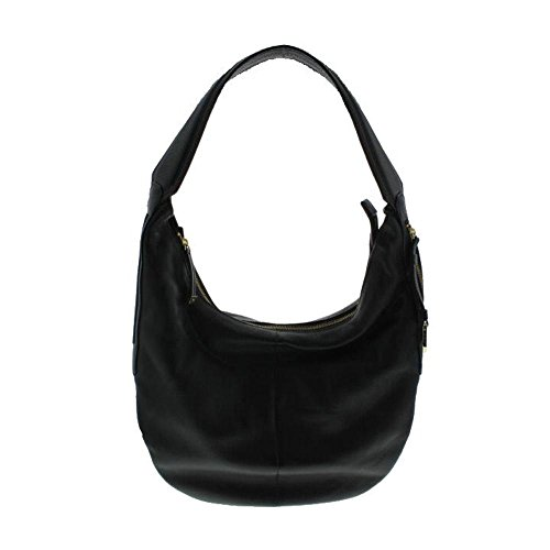 Halston Heritage Womens Leather Slouchy Hobo Handbag