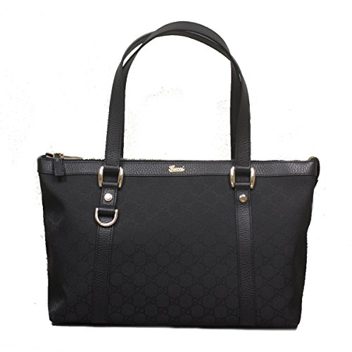 Gucci Handbag Black Nylon and Leather Bag Abbey Designer Shoulder Bag 268640