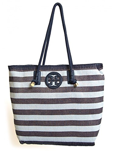 Tory Burch Oversize Stripe Tote Tory Navy Classic Awning One Size
