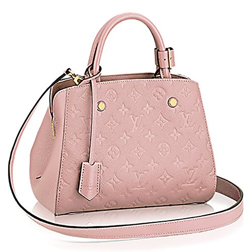 Authentic Louis Vuitton Montaigne BB Monogram Empreinte Handbag Article: M41199