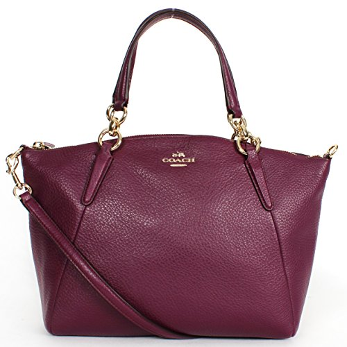SMALL KELSEY SATCHEL IN PEBBLE LEATHER (COACH f36675) IMPLU