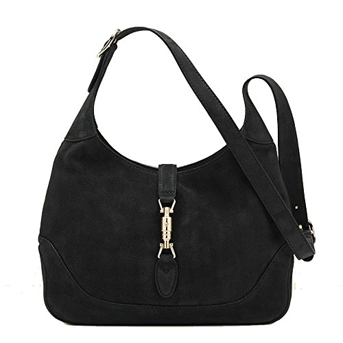 Gucci New Jackie Suede Hobo Shoulder Bag 277520, Black