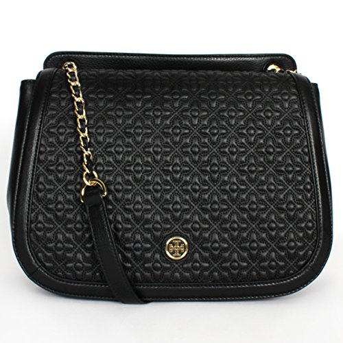 Tory Burch Bryant Quilted Leather Shoulder Bag Black