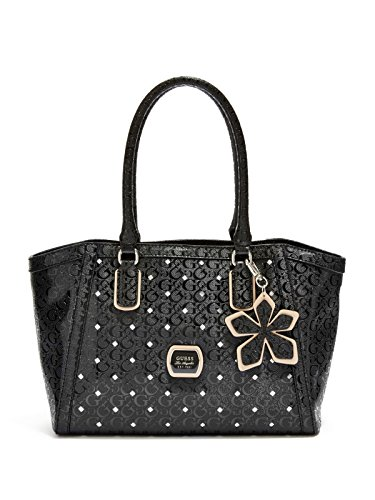 Guess Preston Carryall Tote Satchel Handbag Bag Purse, Black