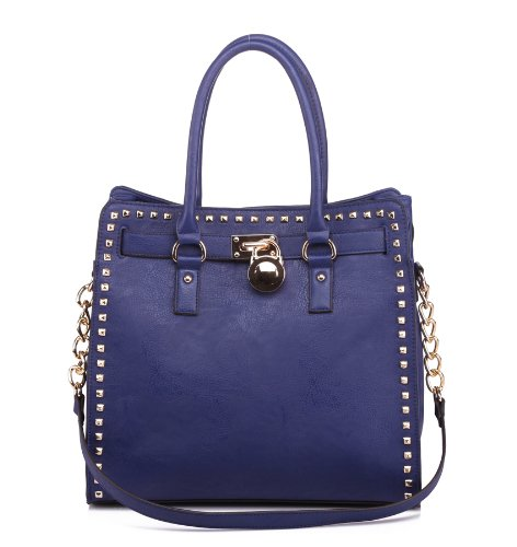MKF Collection STONER Pad-Lock Office Tote Handbag (Blue)