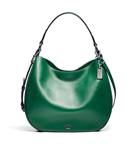 COACH Women's Natural Calf Nomad Hobo Qb/Racing Green Hobo
