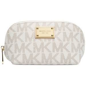 Michael Kors Signature Jet Set Large Travel Pouch – Vanilla