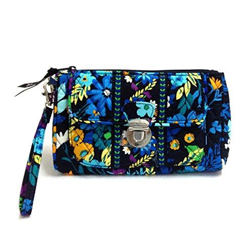 Vera Bradley Pushlock Wristlet Bag (Midnight Blues)