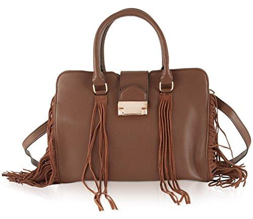 Steve Madden Bkollete Fringe Satchel Bag