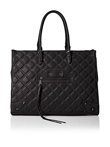 Steven Madden Women's Zinnia Quilted Tote, Black