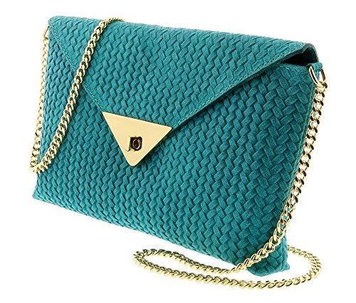 HS1181 TIA Leather Clutch/Crossbody Bag