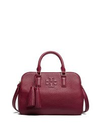 Tory Burch Small Thea Rounded Double-zip Satchel in Shiraz