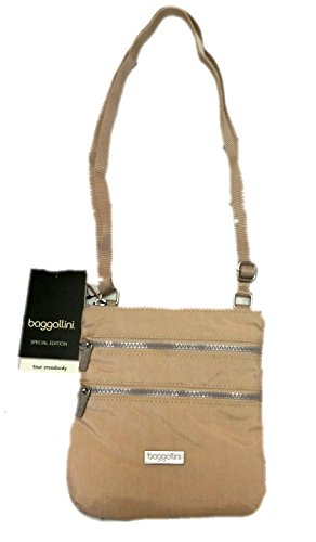 Baggallini Special Edition Tour Crossbody, Taupe