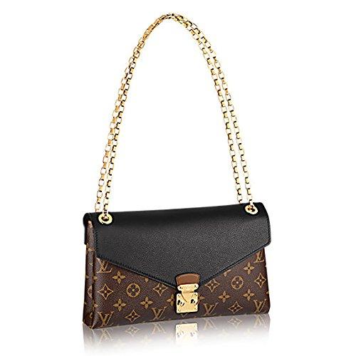 Louis Vuitton Pallas Chain Noir Color Clutch Shoulder Bag Cross Body Article: M41223
