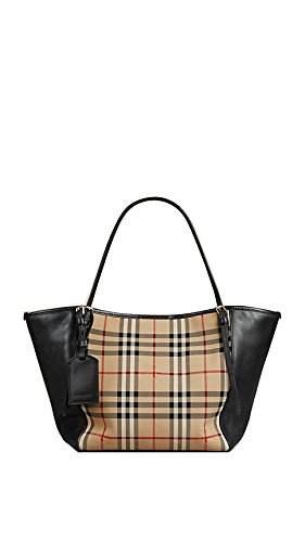 Burberry The Small Canter Horseferry Check Tote – Honey/Black