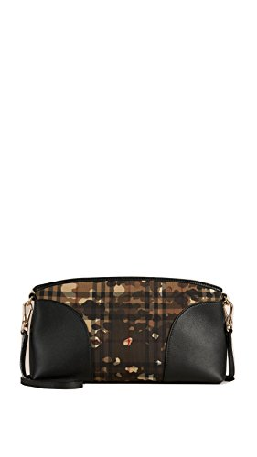 Burberry Horseferry Check and Leather Clutch – Honey/Black