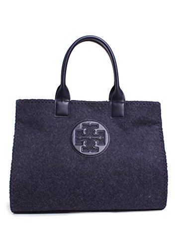 Tory Burch Ella Stitched Tote in Tory Navy