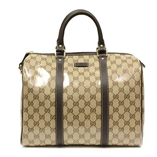 Gucci Crystal Boston Leather Satchel Bag