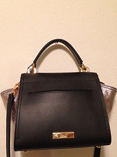 ZAC Zac Posen Women's Eartha Top Handle bag, black / silver