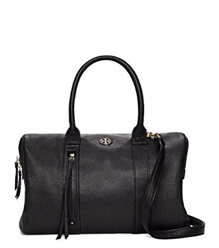 Tory Burch Brody Large Leather Convertible Satchel Black
