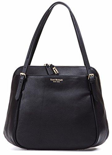 Isaac Mizrahi Designer Handbags: Women's Claudette Leather Satchel – Black