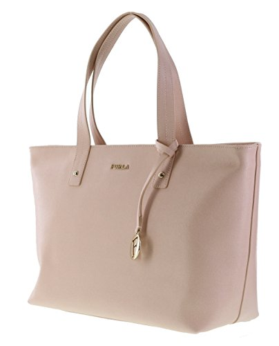 Furla Daisy Saffiano Leather Satchel Handbag Purse in Magnolia (030)