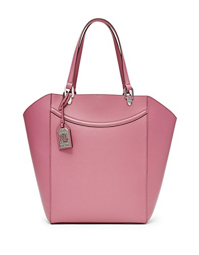 NEW AUTHENTIC LAUREN RALPH LAUREN LEXINGTON SHOPPER WORK TOTE HANDBAG (Faux Leather, Deco Rose)