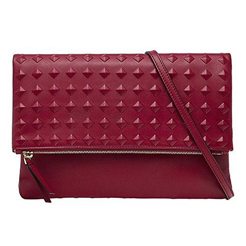 2015 AW MCM Authentic MINI BAG PROJECT (TANTRIS) Medium Clutch Bag – Scooter Red MWC5AMI03RR