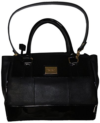 "Tignanello Women's Pebble Leather ""Social Status"" Satchel, Black"