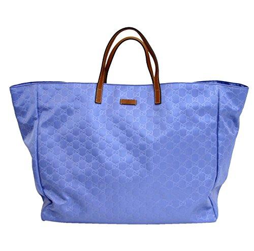 Gucci Guccissima Blue Nylon Tote Handbag 286198/4363