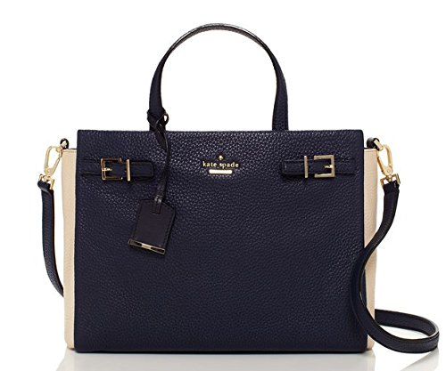 kate spade new york Holden Street Lanie Satchel Bag, Galaxy/Sandstone, One Size