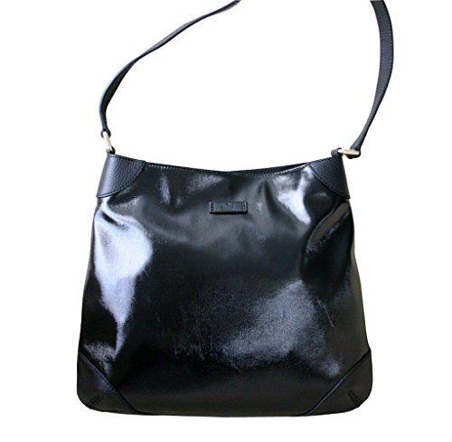 Gucci Black Leather Shoulder Bag Capri Handbag 257296 1000