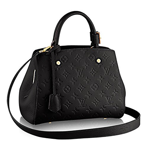 Authentic Louis Vuitton Montaigne BB Monogram Empreinte Handbag Article: M41053