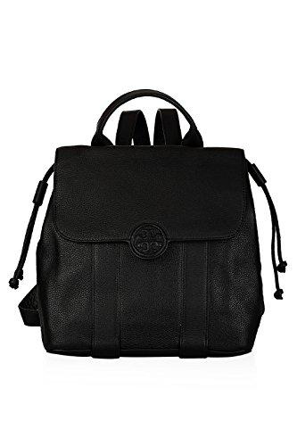 Tory Burch Ella Backpack Black Leather Handbag