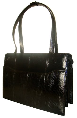 Ramona Bk – Genuine Sea-snake Skin Handbag