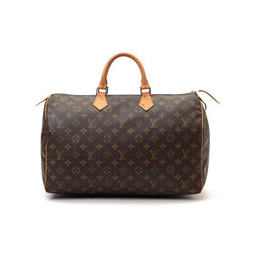 Louis Vuitton Lv Authentic Speedy 40 Genuine Monogram Coated Canvas Purse Handbag