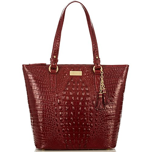 Brahmin Asher Carmine Red Melbourne Leather Shoulder Bag