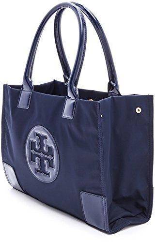 Tory Burch Bag Ella Tote French Navy Blue Mini