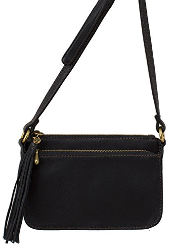 Hobo Handbags Supersoft Leather Brook Crossbody – Black