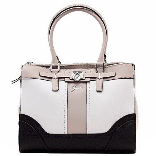 Guess Women's Greyson White Multi Status Carryall Tote Handbag
