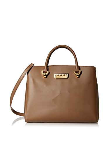 Zac Zac Posen Women's Vachetta Eartha Barrel Satchel, Brown