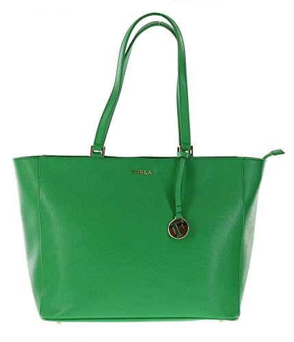 Furla B30 Musa Saffiano Leather Satchel Handbag Purse in Emerald (033)