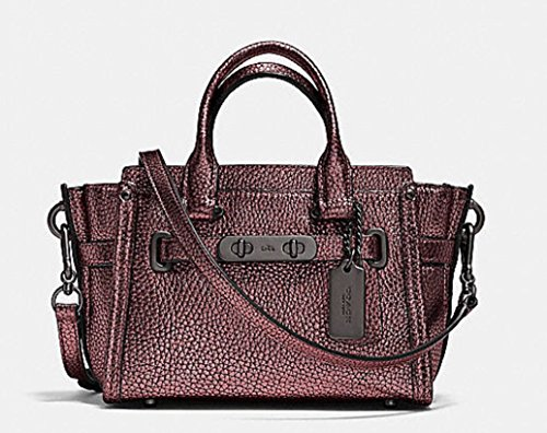 COACH Women's Metallic Coach Swagger 27 Qb/Metallic Cherry Satchel