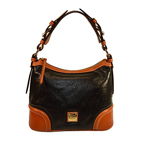 Dooney & Bourke Ostrich Emb Leather Hobo Purse