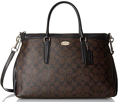 Coach Signature Morgan Satchel Tote Bag Handbag